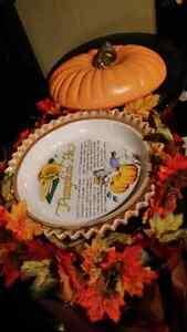 Halloween  pumpkin pie plate centre piece Kitchener / Waterloo Kitchener Area image 2