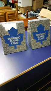 Stone Bookends Toronto Maple Leafs