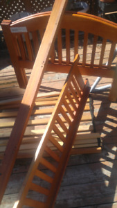 Wooden Queen Bed(used)for Sale$125