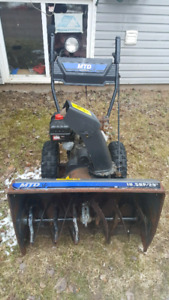 Snow blower and ride on lawn mower