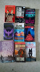Various fiction books for sale