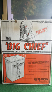 Big chief smoker. With chips.