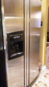 KitchenAid side by side Refrigerator and glass top oven