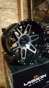 NEW 20X12 5X139.7 VISION WHEELS