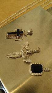 925 Italy , chaine / pendantif , diamond , iced out West Island Greater Montréal image 3