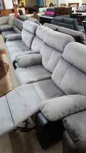 2 piece matching reclining couch and love seat - Delivery Availa