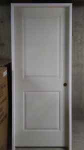 Interior LH 30in x 80in, 2 Panel Pre-Hung, 2x4 Jamb