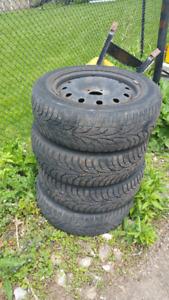 205/60R16 snow tires - 5x114.3 bolt pattern.