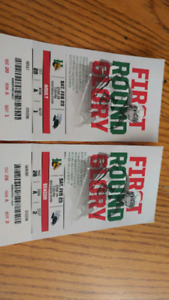 Front row seats to tonights mooseheads game feb 23rd -7pm
