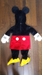 Mickey mouse costume 12-18 months EUC