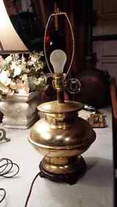 Solid brass lamp no shade