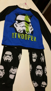 4/5T...Boys Storm Trooper pajamas.  BRAND NEW WITH TAGS