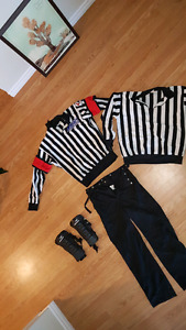 Hockey referee and linesman equipment