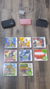 Pink 3DS with Games