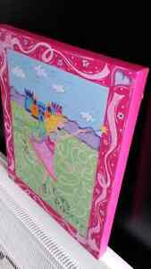 Princess painted canvas, girls room décor London Ontario image 1