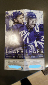TORONTO MAPLE LEAFS VS ST LOUIS BLUES SATURDAY OCTOBER 20TH.
