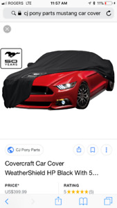 Selling 2015 mustang custom car cover