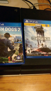 PS4 with Watch Dogs 2 and Star Wars Battlefront