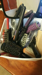 Brushes, Combs, Mirror, Clips