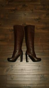 Nine West Moyen Boots - Dark Brown (Size 5.5)