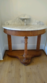 Antique marble wash stand.
