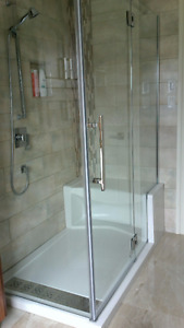 Fleurco glass for an Alessa shower
