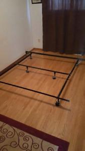 ADJUSTABLE metal bed frame Queen double