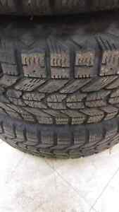 """Set of 4 winter tires on rims! 14""""! $200!!!"""