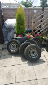 Classic mini steel wheels