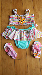 New Disney bathing suit and matching sandals