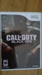 Call of Duty Black Ops game for Nindendo Wii
