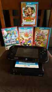 Nintendo Wii U game console, pad and games
