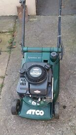 Acto Admiral 16 self propelled rear roller petrol lawnmower in excellent condition.