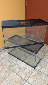 "Aquarium with Wire Cover  30""L x 13""W x16""H"