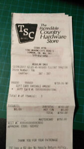 TSC Store gift card