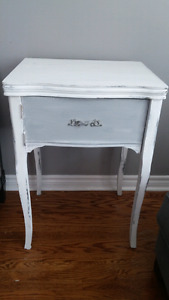 Side table - rustic sewing table conversion