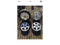 """Peugeot 107, Citroen C1, Toyota Aygo. Set Of 4 Alloy Wheels, Karkola 14""""."""