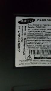 Looking Samsung 60 inch plasma