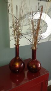 MATCHING RED VASES
