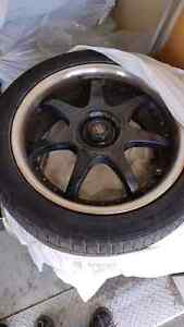 4 Continental tires with motegi rims