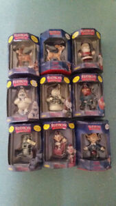 9 RUDOLPH THE REDNOSE REINDEER COLLECTABLE ORNAMENTS /RARE