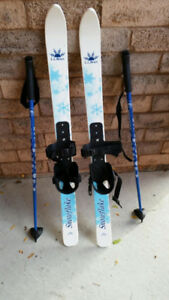 LL. Bean Toddler skis and poles