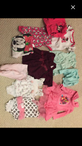 NB to 3 months baby girls outfits -12 items
