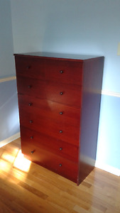 Ikea dresser dark cherry finish