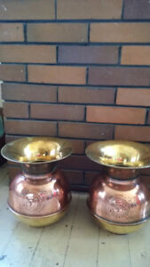 Brass & copper spittoons