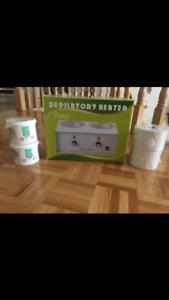 BRAND NEW- Double Wax Heater with 2 soft wax + wax strips