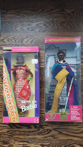 Rare collectible African Barbie dolls