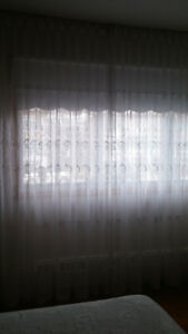 Sheer embroidered custom-made Curtains/Rideaux