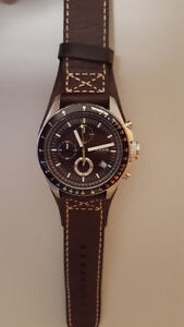 Men's Brown Leather Fossil Watch