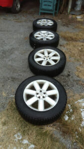 4 x Winter Tires with Rims from 08 Subaru. 5x100 225/60R17